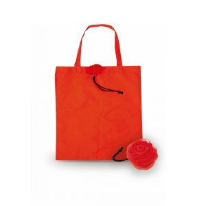 Rous Foldable Shopper Bag CAM3380 Red Front View