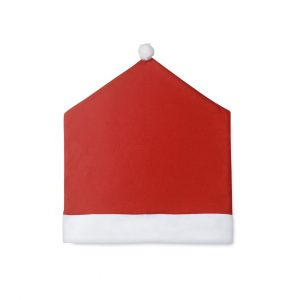 Santa Hat Chair Slipcover CAM4260 Christmas Red and White