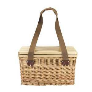Sorrento Trekk Wicker Cooler Basket CATK1036 Side View with Carry Handles