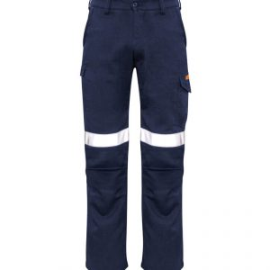 Stout Taped Cargo Pants Mens CAZP521S Navy Front Workwear Mens Pants