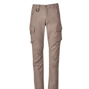 Streetworx Curved Cargo Pants Mens CAZP360 Khaki Front Workwear Mens Pants