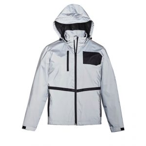 Streetworx Reflective Waterproof Jacket Unisex CAZJ380 Silver Front Workwear Unisex Jacket