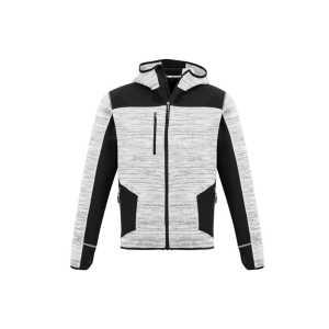 Streetworx Reinforced Knit Hoodie Unisex CAZT360 Grey Front Workwear Unisex Hoodie