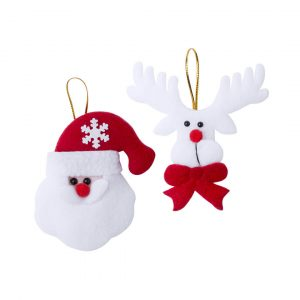 Tainox Christmas Decoration Set CAM5105 Christmas Santa and Rudolph Red and White