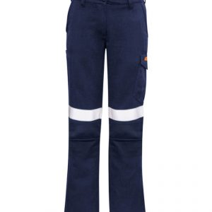 Taped Cargo Pants Womens CAZP522 Navy Front Workwear Ladies Pants
