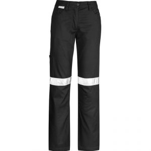 Taped Utility Pants Womens Black Front CAZWL004