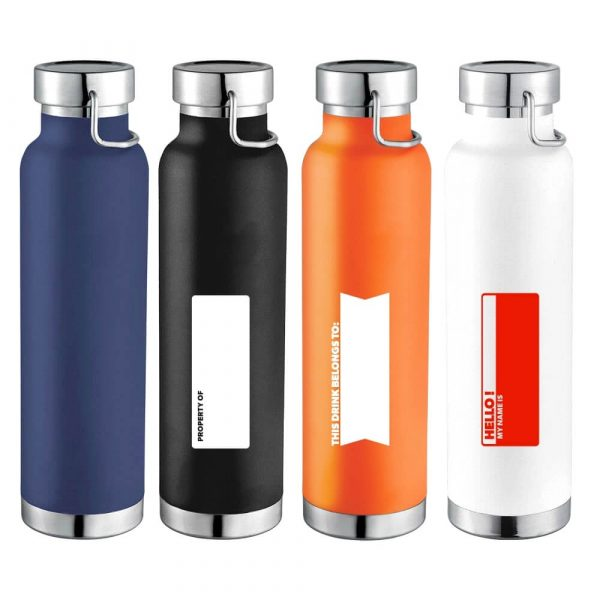 Thor Copper Vacuum Insulated Bottle CA4075 Various Colour with Name Badges