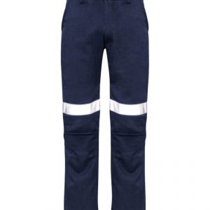 Traditional Style Taped Work Pants Mens CAZP523 Navy Front Workwear Mens Pants