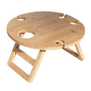 Trekk Travel Picnic Table CATK1037 Wood Opened