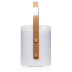 Twilight Speaker Mood Lamp CAPOTSL White Side View Wood Look Handle