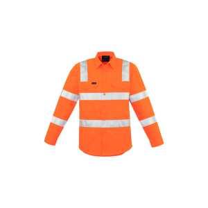 Vic Rail Biomotion Shirt Mens CAZW680 Orange Front Workwear Shirt