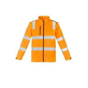 Vic Rail Hi Vis 2 in 1 Soft Shell Jacket Unisex CAZJ780 Vic Rail Orange Front Workwear Jacket