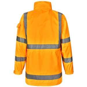 Vic Rail Hi Vis Safety Jacket Unisex CASW75 Orange Back Workwear Jacket