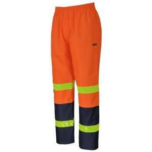 Vic Road Rain Pants With Reflective Tape Unisex Orange Navy Workwear Pants