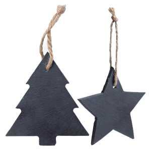 Vondix Slate Christmas Tree Decoration CAM6349 Various Shapes