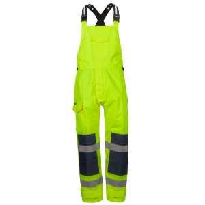 Waterproof Bib Brace Unisex CA6WBB Lime Front Workwear Pants