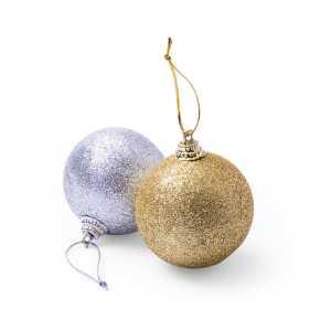 Yenkit Christmas Bauble Decoration Set CAM5107 Gold Silver