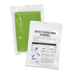 Yeti Premium Cooling Towel Pouch CA110093 Lime Green in Pouch