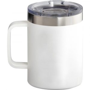Arctic Zone® Titan Thermal HP® Copper Mug CAAZ1016 White Unbranded Side View With Lid On