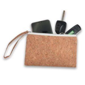 Avalon Multi Purpose Cork Utility Pouch CALL4634 Natural Unbranded Side View Open