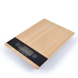 Digital Hercules Bamboo Kitchen Scale CALL6370 Natural Top View On Unbranded