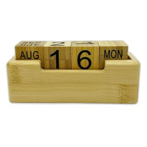 Eco Friendly Perpetual Bamboo Calendar CAD397 Natural Unbranded 1