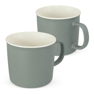 Fuel Two Tone Porcelain Coffee Mug CA117676 Unbranded Side View Grey