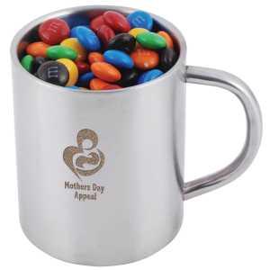 M M s in Stainless Steel Java Mug CALL8621 Branded