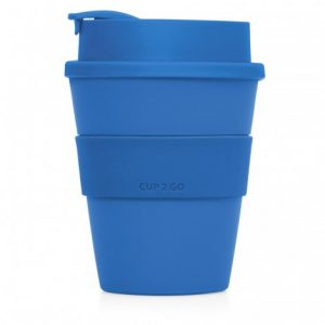 Mix n Match Cup2Go Plastic Coffee Cup CAM254 Unbranded Side View Dark Blue