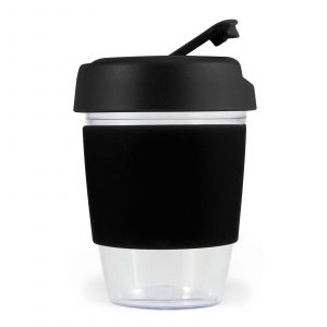 Mix n Match Kick Crystal Coffee Cup With Silicone Band CALL0443 Unbranded Side View Black