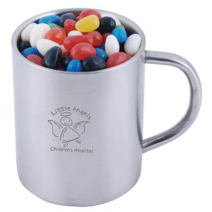 Mixed Jelly Beans in Stainless Steel Java Mug CALL8623 Branded