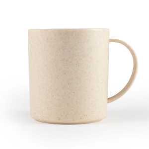 Vulcan Wheat Fibre Eco Friendly Mug CALL0463 Natural Unbranded Side View